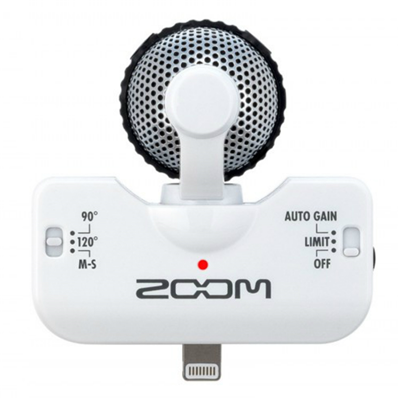 Microfone estéreo para iPhone, iPad e iPad Touch Zoom iQ5 ( Branco )
