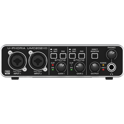 Interface de Áudio U-PHORIA UMC202HD USB 2.0 - BEHRINGER