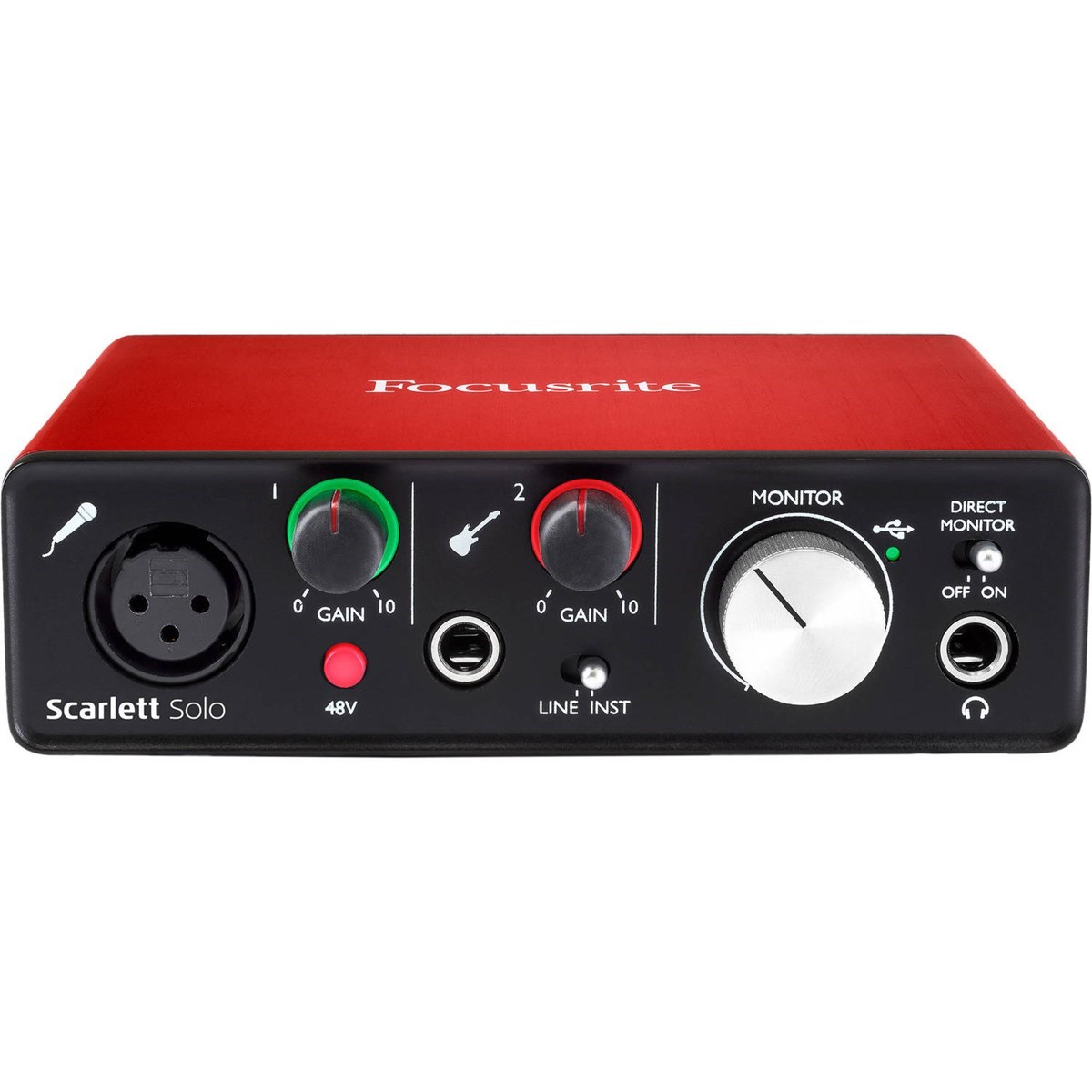 Interface De Áudio USB 2.0 FOCUSRITE Scarlett Solo