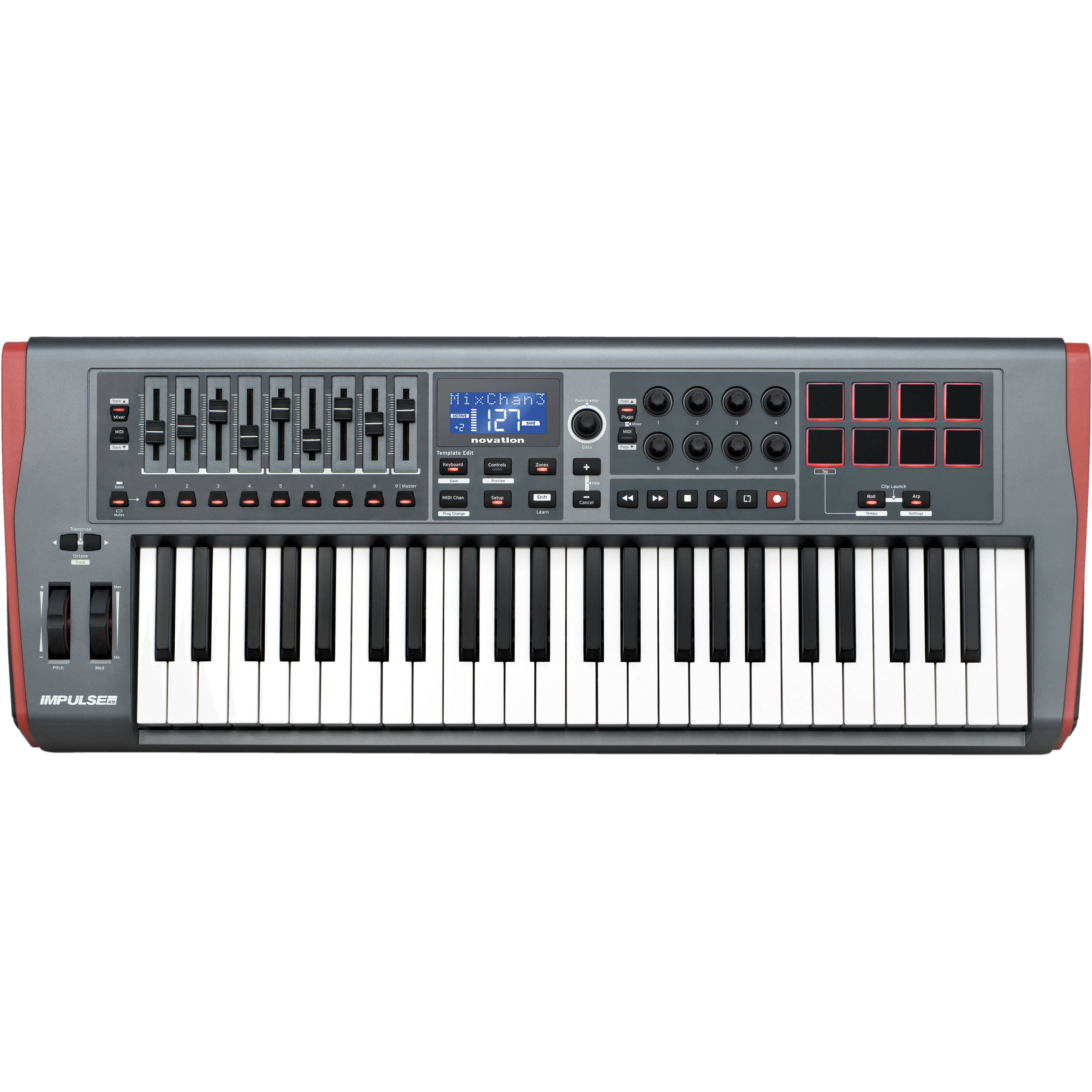Teclado Controlador Impulse 49 Usb Midi - NOVATION