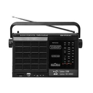 Rádio Portátil RM-PU32AC 3 Faixas/USB/SD- MOTOBRAS