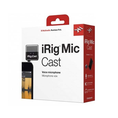 Microfone Irig Mic Cast  iOS / Android- IK MULTIMEDIA