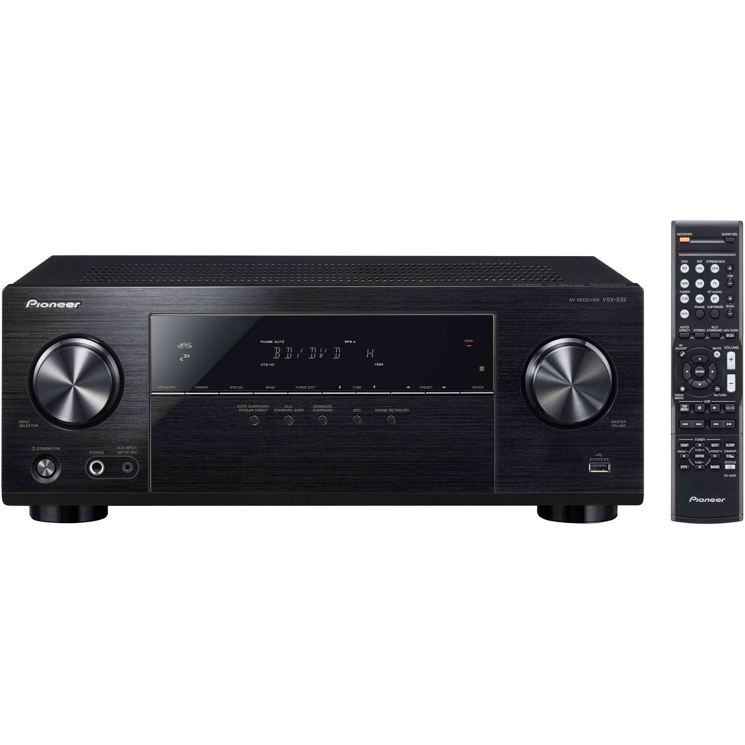 Receiver A/V VSX-532 5.1 HDMI BT ULTRA HD 840W - PIONEER