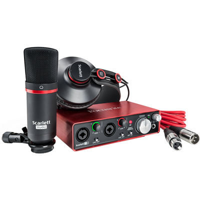 Kit Interface Scarlett 2i2 STUDIO (3ª Geração) - FOCUSRITE