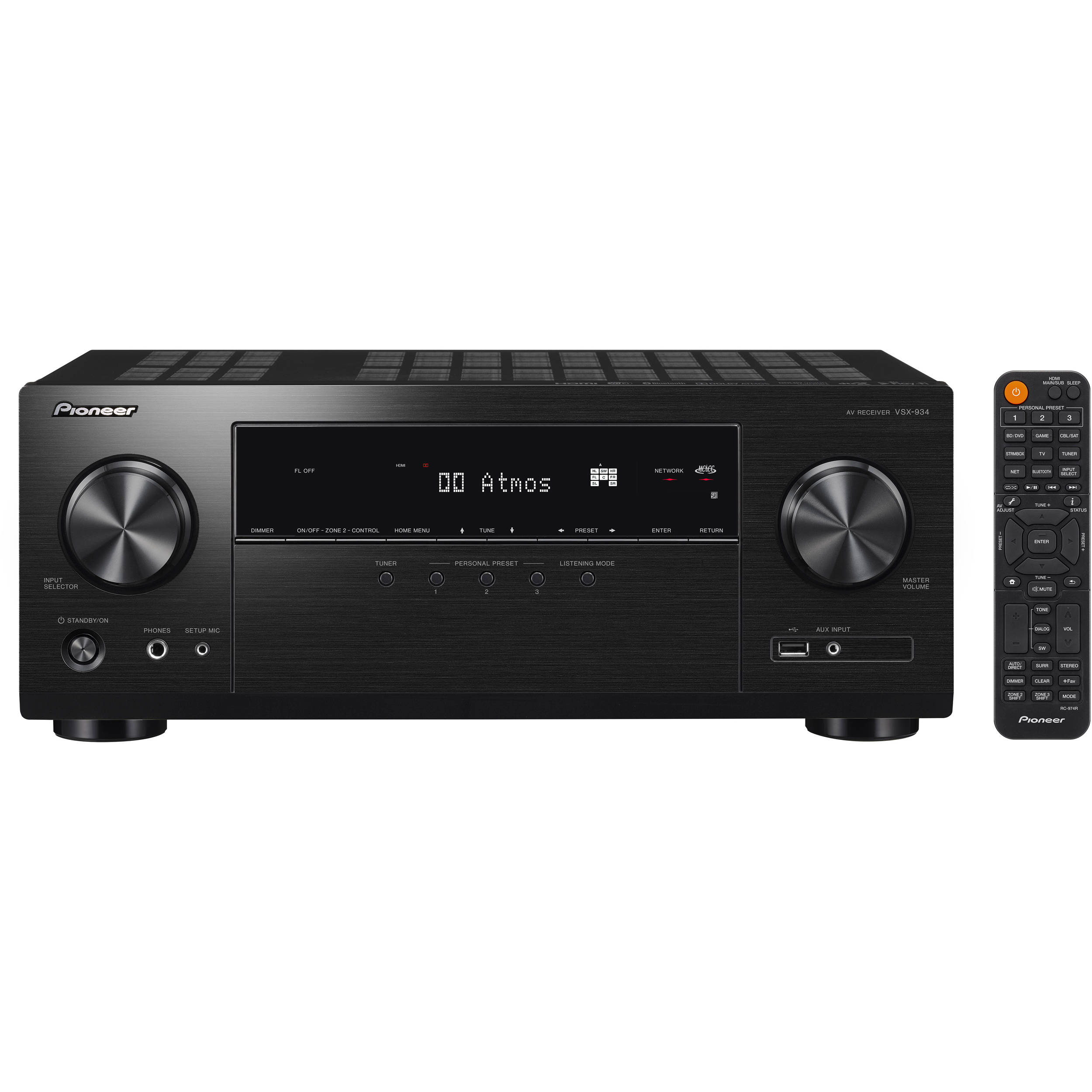 Receiver VSX-934 A/V 7.2 Dolby Atmos 4K HDR - PIONEER