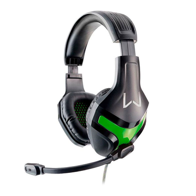 Fone p/ Gamer PH298 Warrior Harve P2 Preto/Verde - WARRIOR